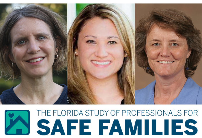 Melissa Radey, Lisa Magruder, Dina Wilke and the logo for the Study of Child Professionals and Safe Families