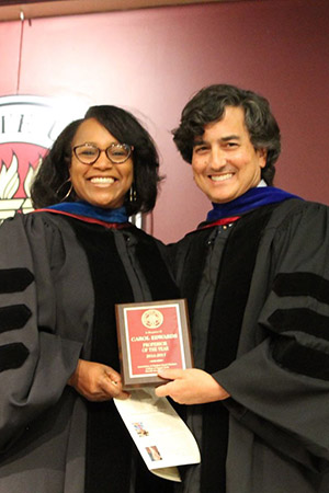 Carol Edwards Professor of the Year and Dean Jim Clark