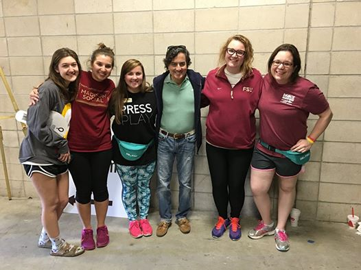 Social Work Dance Marathon Team with Dean Jim Clark