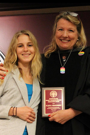 Elena Simonsen IFVS Director's Award Recipient and IFVS Director Karen Oehme
