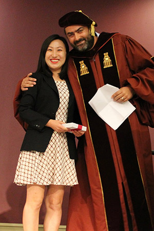 Jungup Lee Dianne Harrison Scholarship Recipient and Dr. Stephen Tripodi