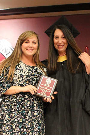Megan Armision MSW Student of the Year and MSW Director Fran Gomory