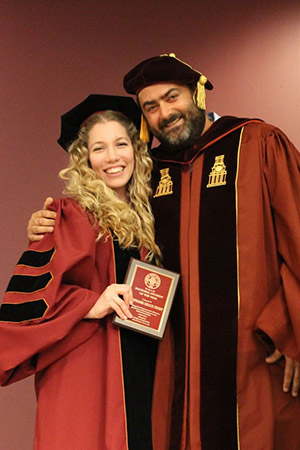 Stephanie Grace Prost Doctoral Student of the Year and Doctoral Program Director Stephen Tripodi