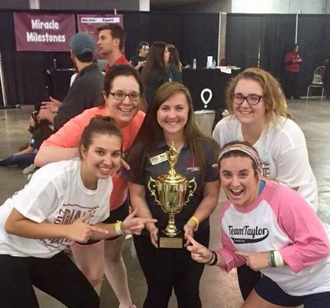 Dance Marathon Team 2017 with Trophy
