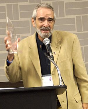 Nick Mazza Receiving the National Association for Poetry Therapy Lifetime Achievement Award