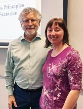 Dr. Neil Abell with Dr. Audrey Roulston, Queen's University Belfast