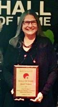 Janet Nelson's induction into the  induction into the Association of Women Martial Arts Instructors Hall of Fame