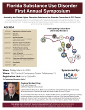 Florida Higher Education Substance Use Disorder Consortium Spring Symposium March 6, 2020 Flyer