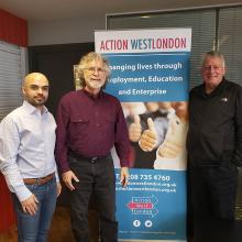 Kurshed Dawan with Dr. Neil Abell and Dr. John Blackmore at Action West