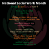 National Work Month Month New Era Of Social Work Kickoff Week Flyer